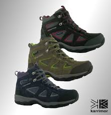 womens walking boots size 9 branded karrimor breathable mountain mid top walking boots