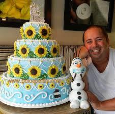 bolo feito pelo cake designer marcelo bellini do tema frozen