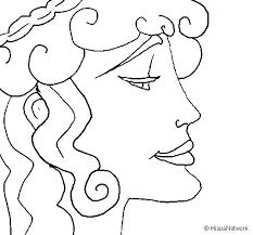 imagenes de zeus para dibujar faciles dibujo de cabeza de mujer para colorear dibujos net