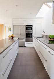 Kitchen Cabinets Without Hardware by Best 20 White Grey Kitchens Ideas On Pinterest Grey Kitchen