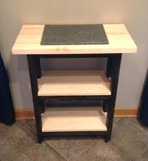 side table rolling side tables reclaimed kitchen island and