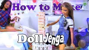 diy how to make doll jenga family game night doll craft easy