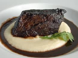 daniel boulud u0027s red wine braised short ribs with celery root puree