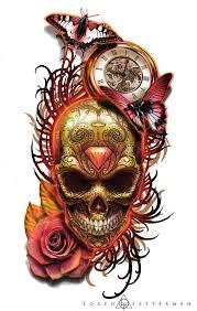 American Flag Tattoos Black And Grey The 25 Best Skull Sleeve Tattoos Ideas On Pinterest Leg Tattoos