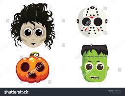 Cute Halloween Vector Cute Halloween Masks Stock Vector 506307100 Shutterstock