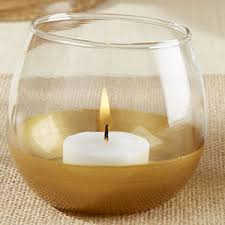 gold dipped gold dipped glass votive holder set of 4 candle holder wedding
