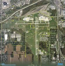 Flint Michigan Map Bishop International Airport Flint Michigan Aerial Photograph