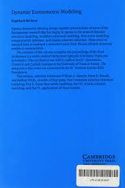 dynamic econometric modeling proceedings of the third