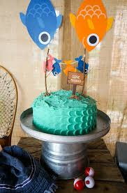 cake from a gone fishing birthday party via kara u0027s party ideas