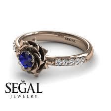 minimalist engagement ring flower engagement ring 14k gold 0 25 carat cut