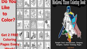 flipping medieval times coloring book knights dragons