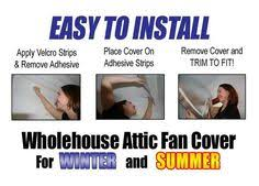 seal a vent open insulated whole house magnetic attic fan