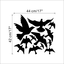 flying pigeon bird wall art stickers decal diy home decoration