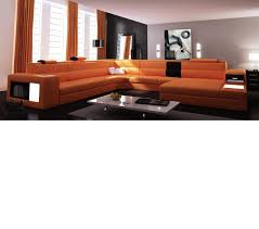 Contemporary Leather Sectional Sofa by Dreamfurniture Com Divani Casa Polaris Contemporary Leather