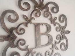 Monogram Letters Home Decor Metal Wall Letters Home Decor Hanging Letters Wall Decor Home