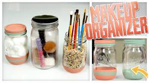 diy jar organizers great for makeup do it gurl youtube