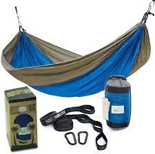 amazon com rip resistant single parachute camping hammock with 2