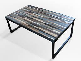 wood table with metal legs reclaimed wood table modern industrial wood coffee table with