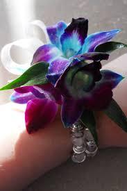 blue orchid corsage the colors plain corsages boutonnières