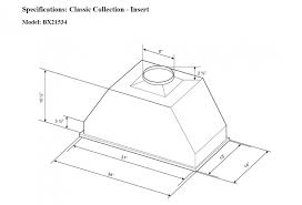 bx215 inserts products cyclone range hoods