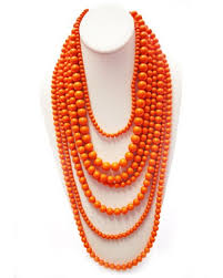 long orange necklace images Best orange beaded necklace photos 2017 blue maize jpg