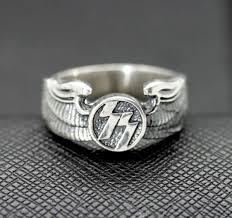 ss wedding ring german ring ss symbol eagle wings silver ring antiq24