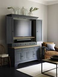 Living Room Media Furniture Living Room The Tv Can Be Concealed With Retractable Doors So
