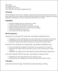 bartender resume template bartending resume template novasatfm tk