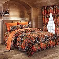 Twin Camo Bedding Amazon Com The Woods Orange Camouflage Twin 5pc Premium Luxury