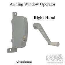 Awning Window Crank 3 Awning Window Operator Miami Windows Right Hand Aluminum