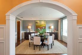 Dining Rooms With Wainscoting Dining Room With High Ceiling U0026 Wainscoting In Pacific Palisades