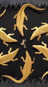 iphone7papers com iphone7 wallpaper ba11 gold alligator frog