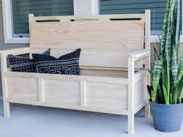 Outdoor Storage Bench How To Build An Outdoor Bench With Storage Hgtv