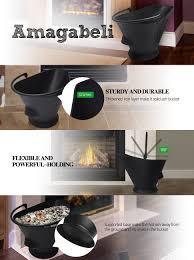 amazon com amagabeli large ash bucket for fireplace coal hod or