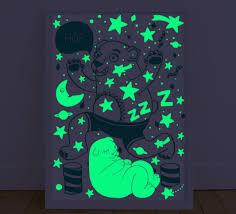 glow in the dark poster bear