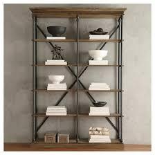 belvidere 5 shelf bookcase black homelegance target