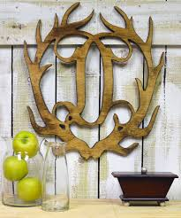 unfinished wood co unfinished initial antler wall art and folkart
