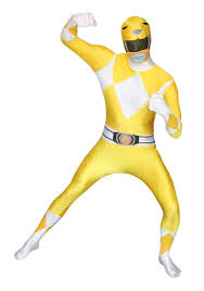 Pink Ranger Halloween Costume Power Rangers Yellow Ranger Morphsuit