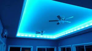 decorations fasicnating blue hidden ceiling lighting for bedroom