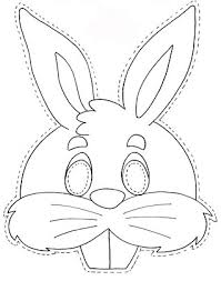 rabbit mask free coloring pages coloring pages thema lente