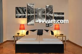 Forest Designs Bedroom Furniture 5 Piece Black And White Mountain Wall Art