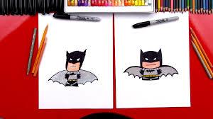 draw cartoon batman art kids hub