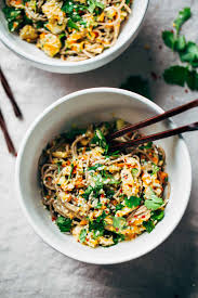 chopped chicken sesame noodle bowls recipe pinch of yum