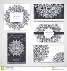 set of banners with floral indian ornaments can be stock vector