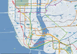 Nyc Subway Map With Street Overlay by Download Manhattan Subway Map With Streets Major Tourist