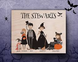 halloween funny cartoon pictures halloween family sign personalized halloween decor happy