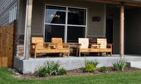 Bench Outdoor Furniture Free Patio Chair Plans How To Build A Double Chair Bench With Table