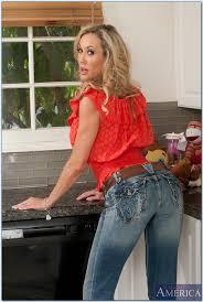 Red Milf Kitchen - graceful milf with petite brandi love stripping in the kitchen
