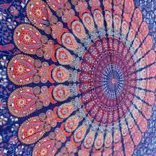 hippie tapestry elephant mandala hippie from rangraizzi on etsy