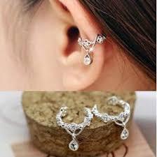 ear wrap 2018 earring clip gold sliver plated charms ear wrap ear cuff
